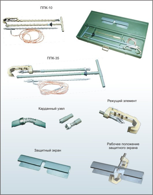 Apparatus for puncture cable PPK.